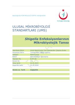 Shigella enfeksiyonları - Türkiye Halk Sağlığı Kurumu