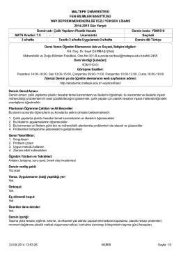 Syllabus YDM 519 - Akademik Web Sayfaları