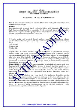 Aktif Akademi Eğitim Merkezi www.aktifonline.net 2014/3. DÖNEM