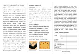 Toprak Analizi Yaptır - Ankara İl Gıda Tarım ve Hayvancılık Müdürlüğü
