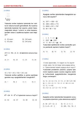 6.sınıf matematik-1 - Matematikfatihi.com