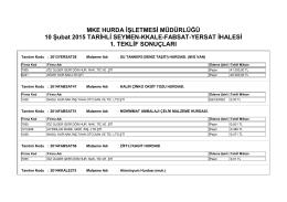 10 Şubat 2015 TARİHLİ SEYMEN-KKALE-FABSAT