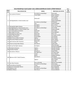 ücretli öğretmen listesi