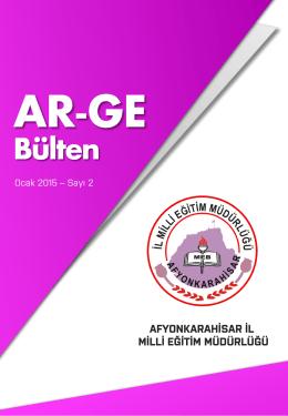 Ocak 2015 ARGE Bülteni. - Afyonkarahisar Milli Eğitim Müdürlüğü