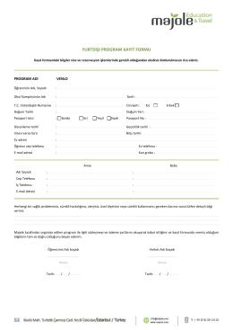 yurtdışı program kayıt formu