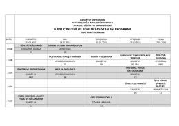 Büro Yönetimi - Naci Topçuoğlu Meslek Yüksekokulu
