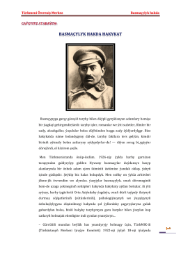 Türkmeni Öwreniş Merkez Basmaçyly