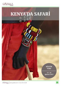 KENYA`DA SAFARİ - Gazella Turizm