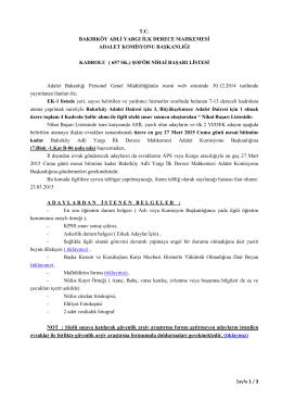657 SK. - Bakırköy Adalet Sarayı
