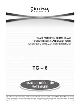 İlköğretim Matematik 6