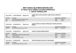 07 Nisan 2015 TARİHLİ ALİAĞA