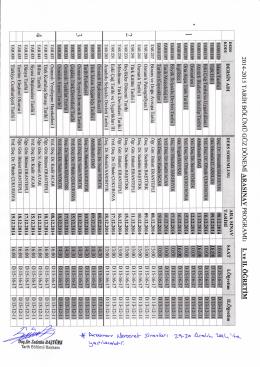 tarih bölümü 2014-2015 güz yarıyılı arasınav (vize)