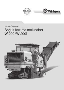 So¤uk kazıma makinaları W 200 / W 200 i