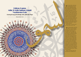 Edirne Kapısı Mihr ü Mâh Sultan Câmii Yazılarına Dair Edirne Kapısı