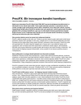 PreciFX: Bir inovasyon kendini kanıtlıyor.
