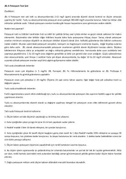 JBL K Potasyum Test Seti Özellikleri