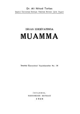 Ali Nihad Tarlan - Divan Edebiyatında Muamma