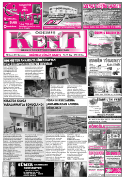 12-11-2014 Tarihli Kent Gazetesi