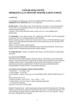 Merkezi Saat Sistemi TŞ. - yapiguclendirmeprojeleri.com