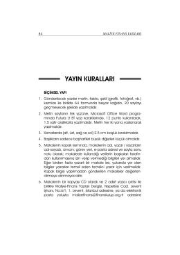 yayın kuralları