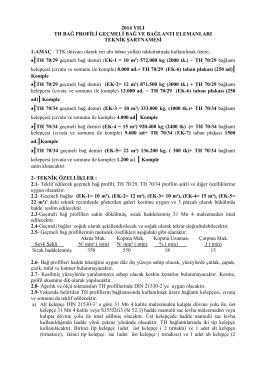 TH 70/29 ve TH 70/34 GEÇMELİ BAĞ DEMİRİ ve BAĞLANTI