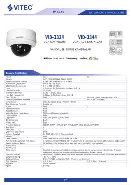 VID-3334 VID-3344 - Bilgi Elektronik