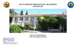 2014 Yılı Çalışma Raporu ve 2015 Yılı Proğramı