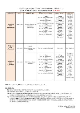 erciyes üniversitesi fen edebiyat fakültesi 2008–2009 öğretim yılı