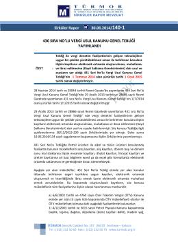 436 Sira Nolu Vergi Usul Kanunu Yayimlandi