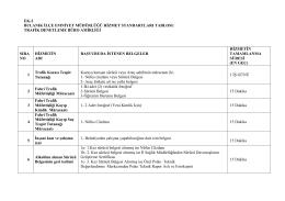 Bulanık İlçe Emniyet Müdürlüğü Kamu Hizmet Standartları Tablosu