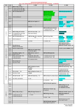 2. Öğretim Ders Programı (Güncellendi-26.09.2014)
