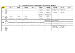 Beden Eğitimi ve Spor Öğretmenliği Ders Programı