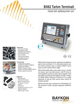 BX62 Tartım Terminali - BAYKON Endüstriyel Tartım Sistemleri