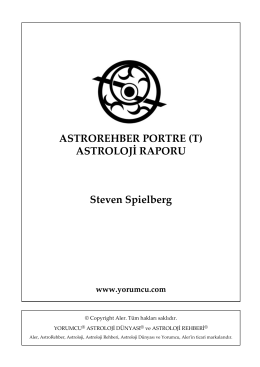 AstroRehber Portre Astroloji Raporu (T) | Steven Spielberg