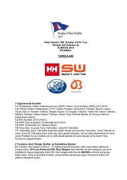 yarış ilanı - Suadiye Yelken Kulübü