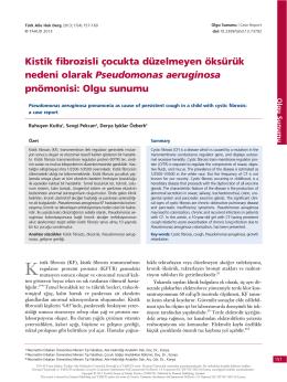 Kistik fibrozisli çocukta düzelmeyen öksürük nedeni olarak