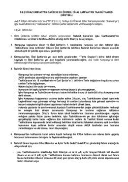 S.E.Ç CİHAZ KAMPANYASI TARİFEYE EK ÖDEMELİ CİHAZ