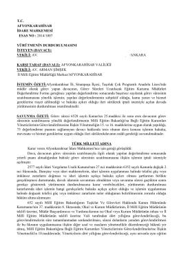 T.C. AFYONKARAHİSAR İDARE MAHKEMESİ