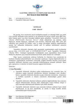 T.C. ULAŞTIRMA, DENİZCİLİK VE HABERLEŞME BAKANLIĞI Sivil