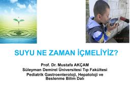 YAŞAM İÇİN SU - Süleyman Demirel Üniversitesi