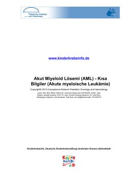 (AML) - Kısa Bilgiler (Akute myeloische Leukämie)