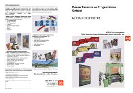 Desen Tasarım ve Programlama Ünitesi MÜCAD