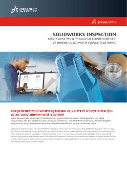 SOLIDWORKS Inspection Veri Sayfasını İndirin