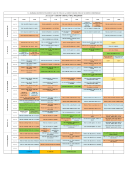 2013-2014 bahar yarıyılı final programı