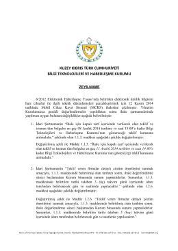 Zeyilname – 28.11.2014 (PDF)