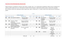 Doktora Programı Ders İçerikleri ve Kredileri