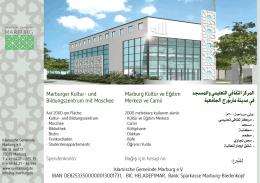 المركز الثقافي التعليمي والمسجد في مدينة ماربورج الجامعية للتربع: