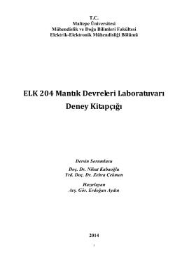 ELK 204 Mantık Devreleri Laboratuvarı Deney Kitapçığı