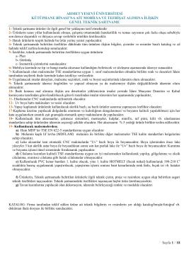 DÜĞÜN SALONU SANDALYELERİ: - Ahmet Yesevi Üniversitesi