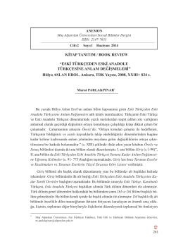 Tam Metin /Full Text - Muş Alparslan Üniversitesi